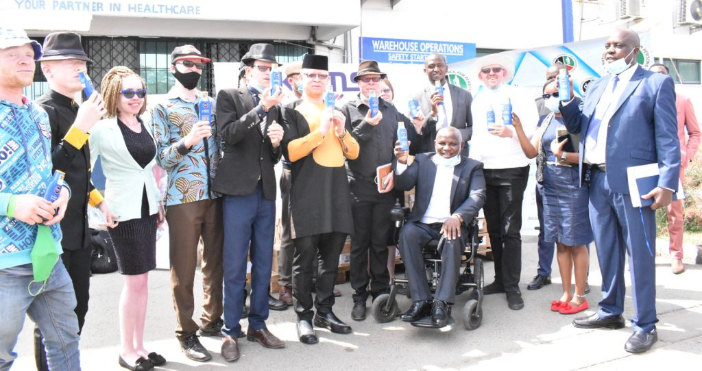 Albinism Support Program sunscreen lotion distribution launch