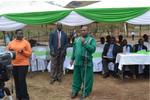 Kipawa Project Guest of Honor deliveing his speech-speech.
